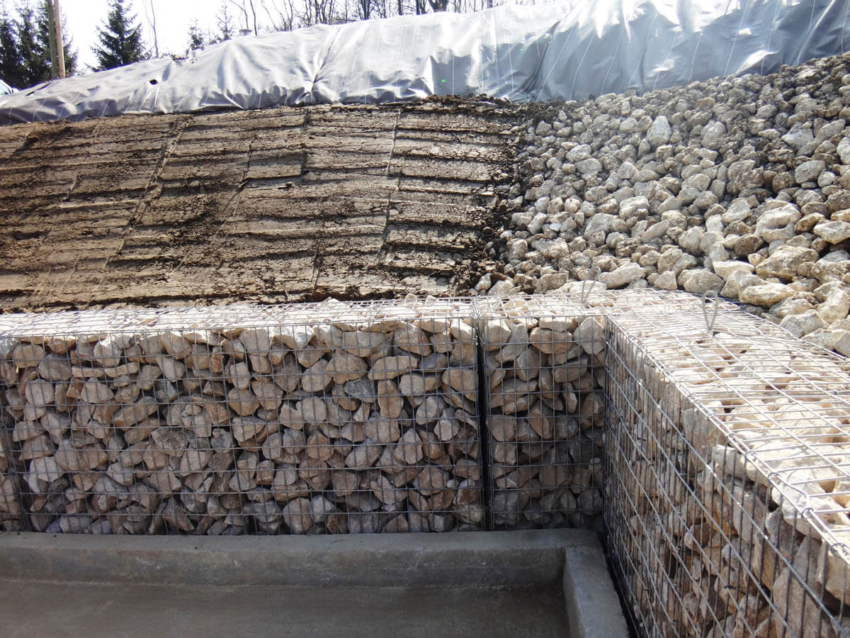 Mur en gabion amenagements paysagers giraudon travaux publics - Mur en gabion ...